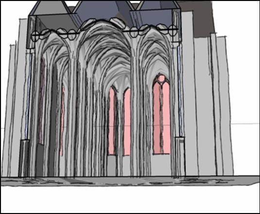 Bild : Schnitt durch eine gotische Hallenkirche